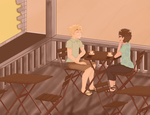 Self insert weekend - Sunset date with Arthur by AquaMoon33