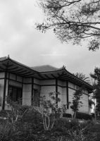 Asian Building in Black and White by ShipperTrish