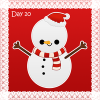 Christmas day 10: snowman by to-much-a-thing