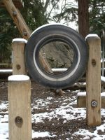 snow tire by JensStockCollection