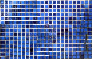 Blue mosaic tiles by RocketStock