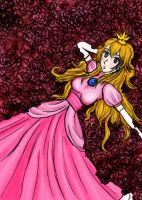 Peach and Roses by vickybunnyangel