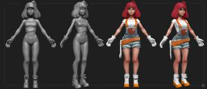 Nora 3D Wip by Kashuse