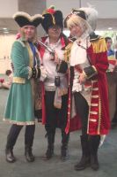 French, Spain and England from Axis Power Hetalia by trivto