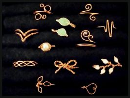 DIY Copper Wire Rings by rltan888