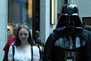 Darth Vader and my friend Lisa by Jhadin