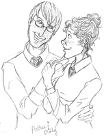 Young Arthur And Molly Weasley by CrystallineColey