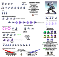 Wolf O'Donnell Sprite sheet by LucarioShirona