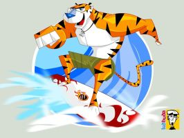 Surfing Tiger 2 by kidbuda