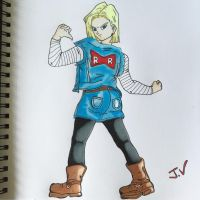 Android 18  by JVdoodles