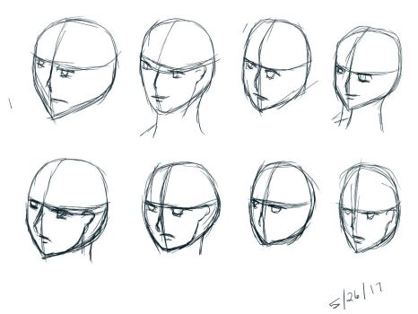 Two-thirds Faces Practice 1 - 2 mins by SleepyRaeLi21