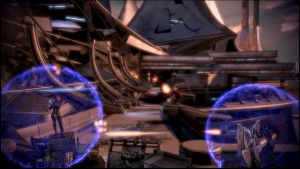 Mass Effect 3 Thessia Barricade Dreamscene by droot1986