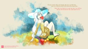The love is like a fruit (wallpaper) by lgbtcartOOns