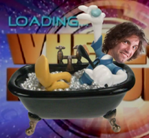 Donald Duck in the bathtub with Dan's face by pikachuandpichu106