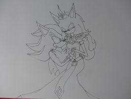 Shadow x Sira in progess 25% by sira-the-hedgehog