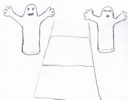 Inflatable Ghosts by Karoyence