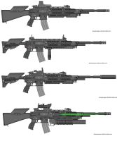 DR21 Assault Rifle Variants by Marksman104