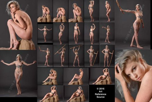 New Model Lauren:  Boris Vallejo inspired nudes by ArtReferenceSource