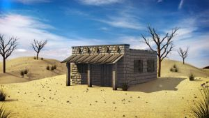 A House in the Desert by EfraLR