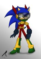 Zonic The Zone Cop by TenshiMendoza