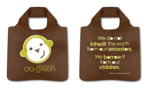 Green Munckie Bag Mock-up by Flyinfrogg