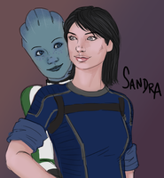 Sandra Shepard and Liara by Jack-Stark