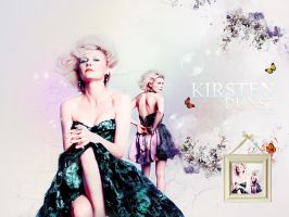 Wallpaper Kirsten Dunst by shad-designs