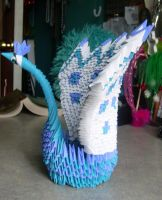 Origami Peacock by IFeltHope44
