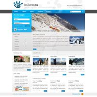 India Hikes Blog Design by decolite