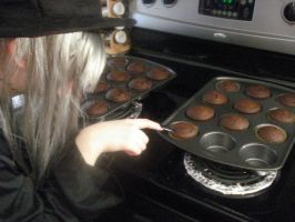 Shinigami Love Cupcakes by DeathByCelloCase