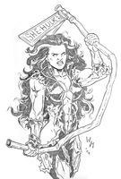 Red She-Hulk: Pencils by quibly