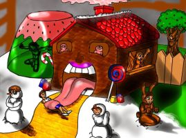 Sweet Treat: Christmas House by TheEigthSinDeath
