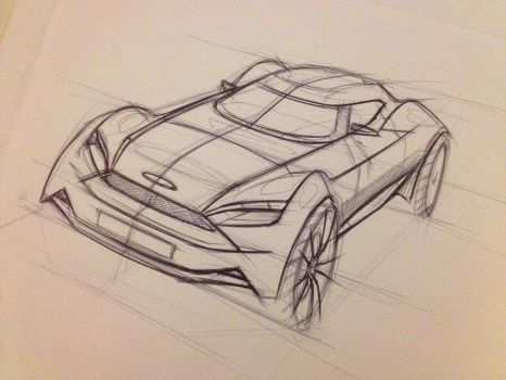 Ford Small Coupe Sketch by garyjpaterson