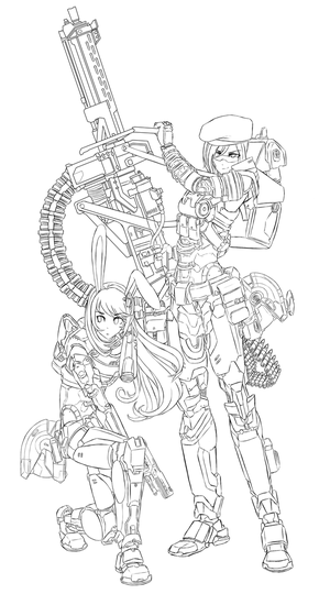 RWBYxHalo : Coco and Velvet - SPARTAN armor (WIP) by dishwasher1910