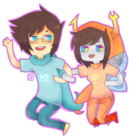 john and vriska by solarsign