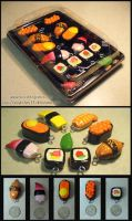 Sushi Keyrings April 2008 by Angiechan13