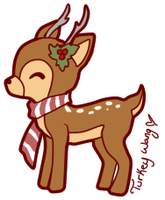 Christmas Deer by Turkey-Wang