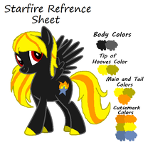 Starfire Refrence Sheet by JewelThePonyLover12