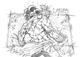 Akuma - The Satsui no Hadou  (skech A5 size) by darnof