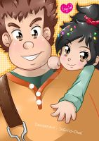 Wreck-It Ralph Style anime by InGriid-Chan