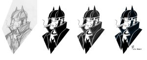 Batman Rockabilly - Evolution by rubioric