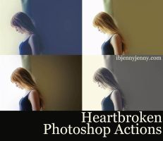 Heartbroken Photoshop Actions by ibjennyjenny