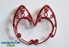 Red and Copper Evil Eye Elf Ears 001 by Dabstar