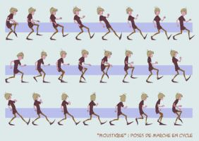 Moustique: loop walk animation by Sedjin