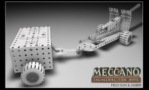 Field Gun With Limber (meccano) by FarawayPictures