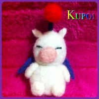 Needle Felted Moogle! by StarlitCutesies
