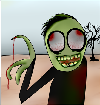 Salad Fingers Likes The Red Water. by Ressindra