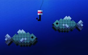 Minecraft Fishing Wallpaper by LynchMob10-09