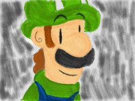 Dsi drawing- Luigi by Kirafrog