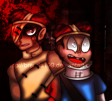 Two Brothers Together ( Fan drawing by Brenda199